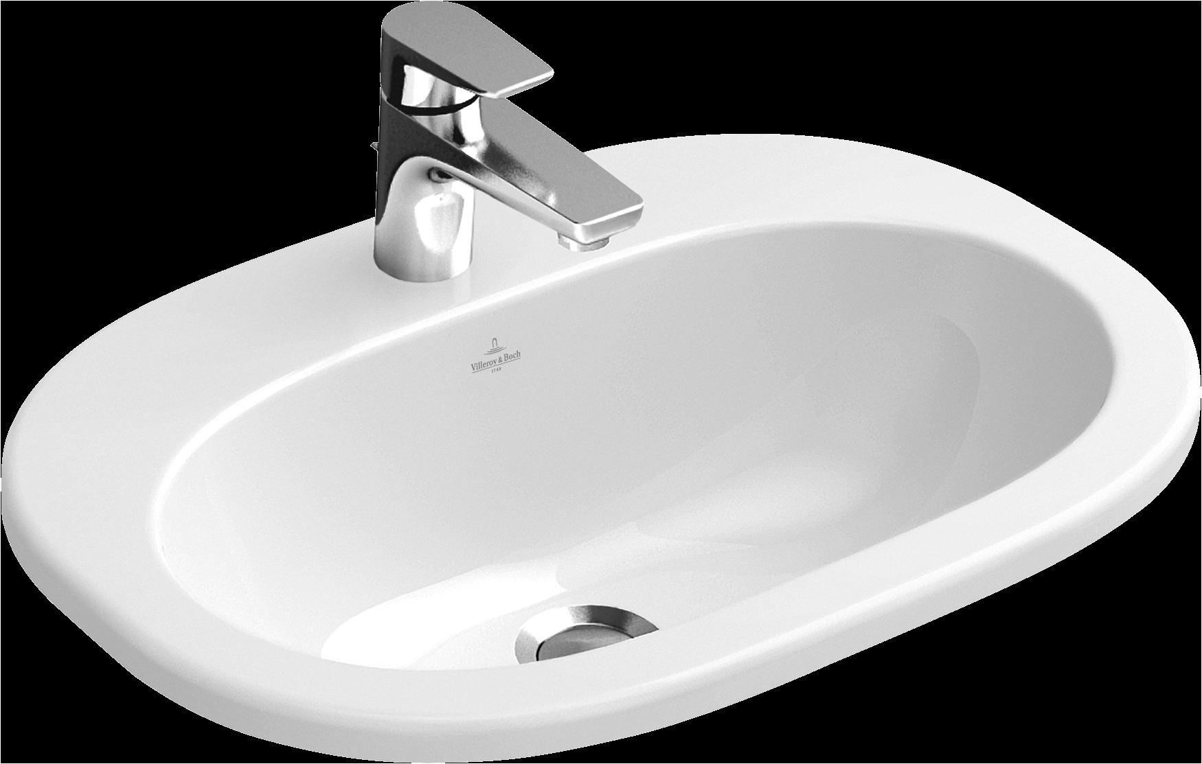 O Novo Built In Washbasin Oval 416156 Wash Basin Basin Villeroy Boch