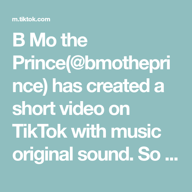 B Mo The Prince Bmotheprince Has Created A Short Video On Tiktok With Music Original Sound So This Is Def A Mor In 2021 The Originals Korean Ground Beef Fruit Salsa