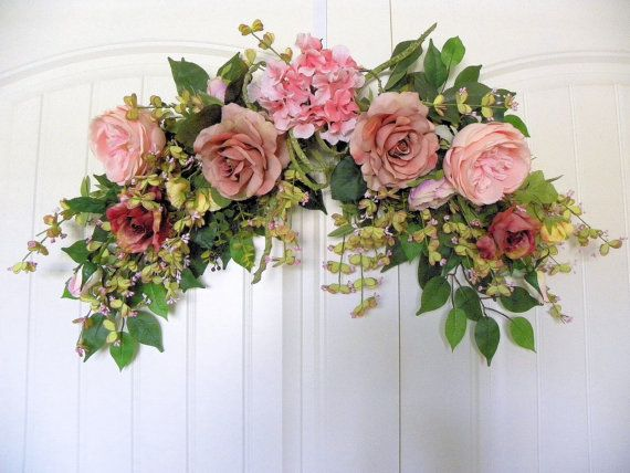 Antique Pink Rose Arch Floral Design Swag | The Wall ...