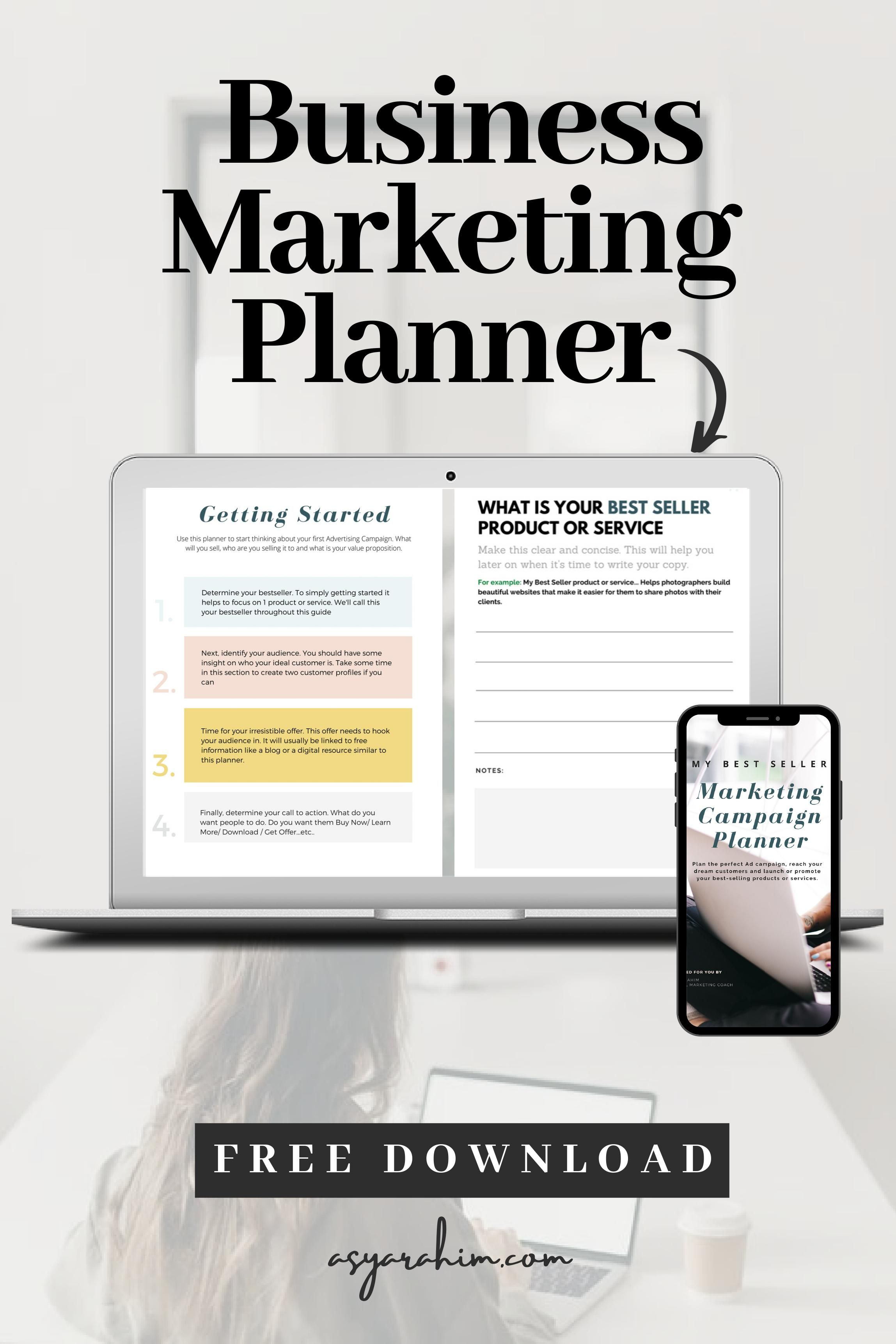 Business Marketing Planner Workbook Free Download Asyarahim Com In 2020 Facebook Marketing Strategy Marketing Planner Facebook Marketing