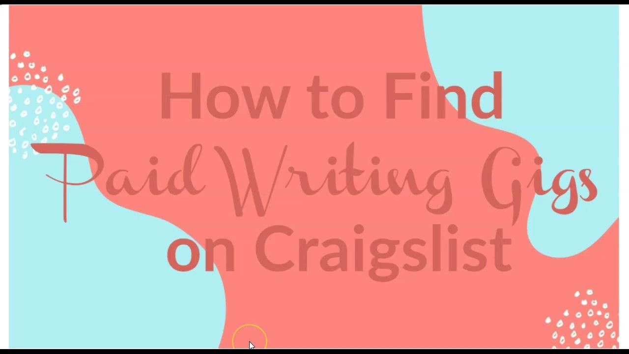 How to find paid writing gigs on craigslist craigslist