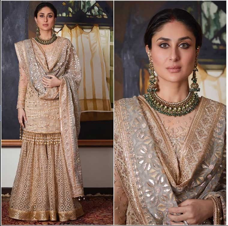 15 Iconic Outfits From Kareena S Closet This Year Sharara Designs Gharara Designs Indian Designer Outfits