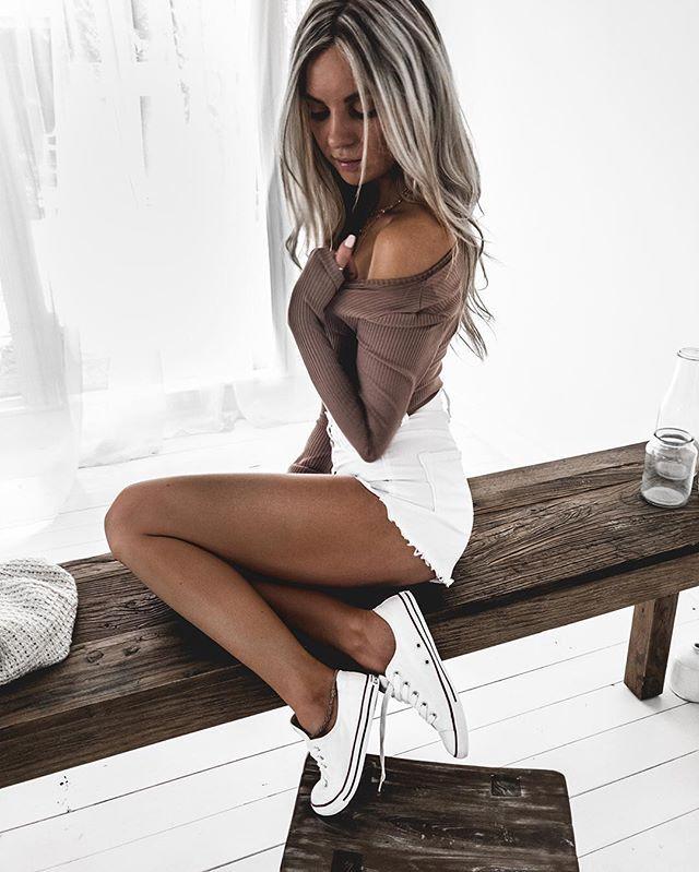 Denim Shorts + Top