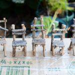 Machen Sie selbst Ihre Mini-Möbel für einen Miniaturgarten: 13 Selbstmachideen