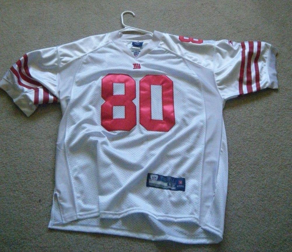 18761a94b New York Giants NFL White Red Victor Cruz 80 On Field Reebok Jersey Size 52  Used #Reebok #NewYorkGiants