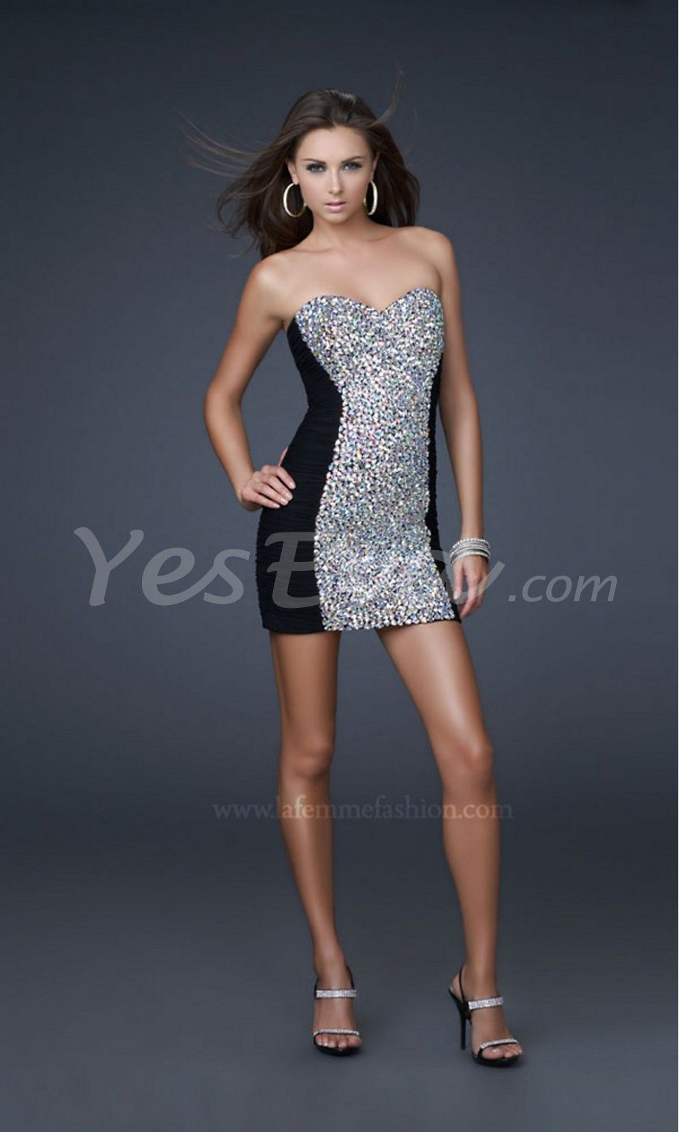 Luxurious sheath strapless sweetheart short prom cocktail dresses