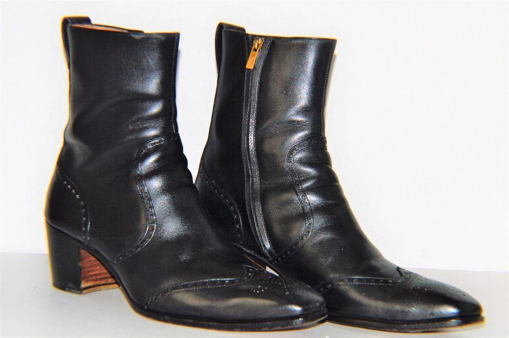 Yves Saint Laurent YSL Tom Ford Johnny Black Leather Boots SZ US 11.5 EU  44.5  yvessaintlaurent  AnkleBoots e605259db4ea