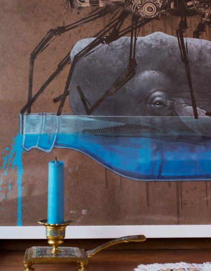 Ein Bild mit einem farbenfrohen Straßenkunstmotiv von Christian Rebecchi & Pablo Togni alias Nevercrew aus der Schweiz