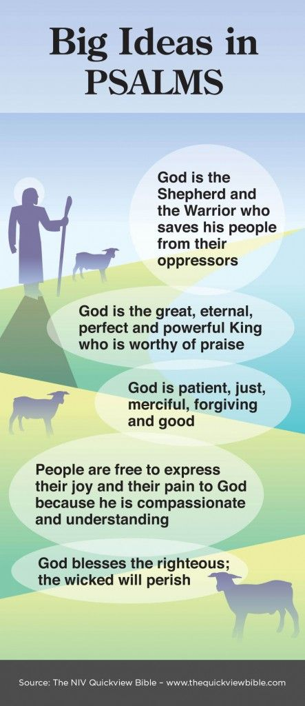 Overview of Psalms Infographic - Illustration