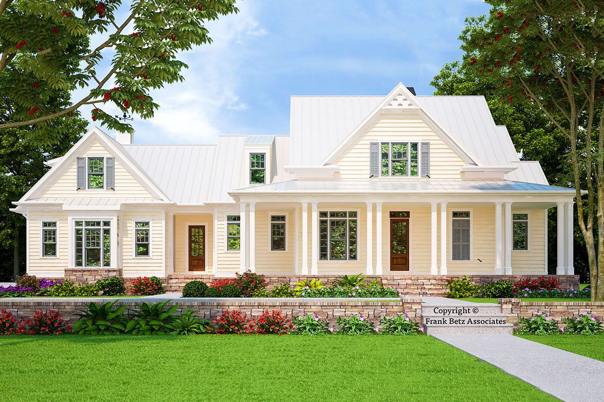 Plan 710047BTZ Classic 4Bed Low Country House Plan with