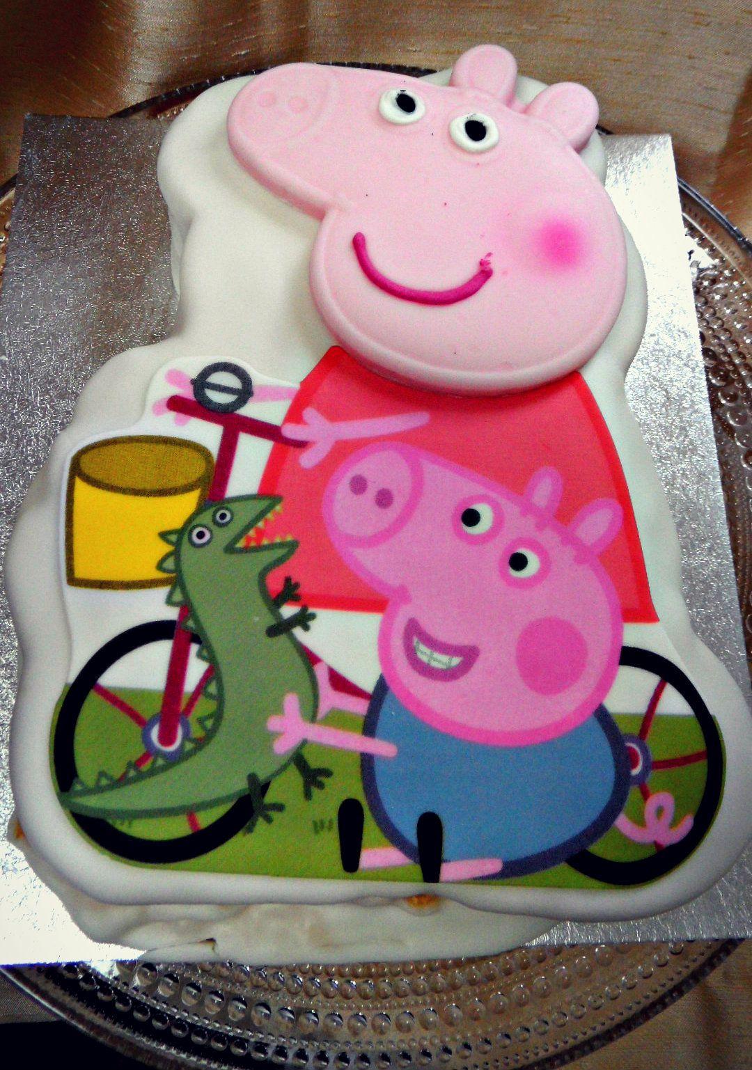 peppapigcakejpg 10801537 Tortas infantiles Pinterest Cake