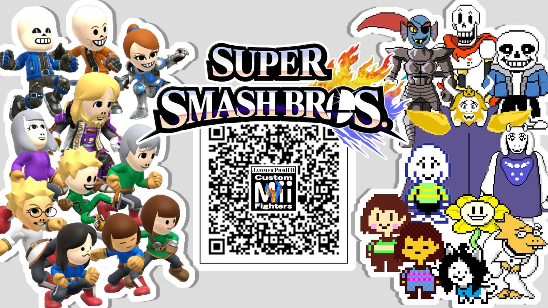 Sans, Papyrus, Frisk, Flowey, and MORE! - Mii Fighter QR