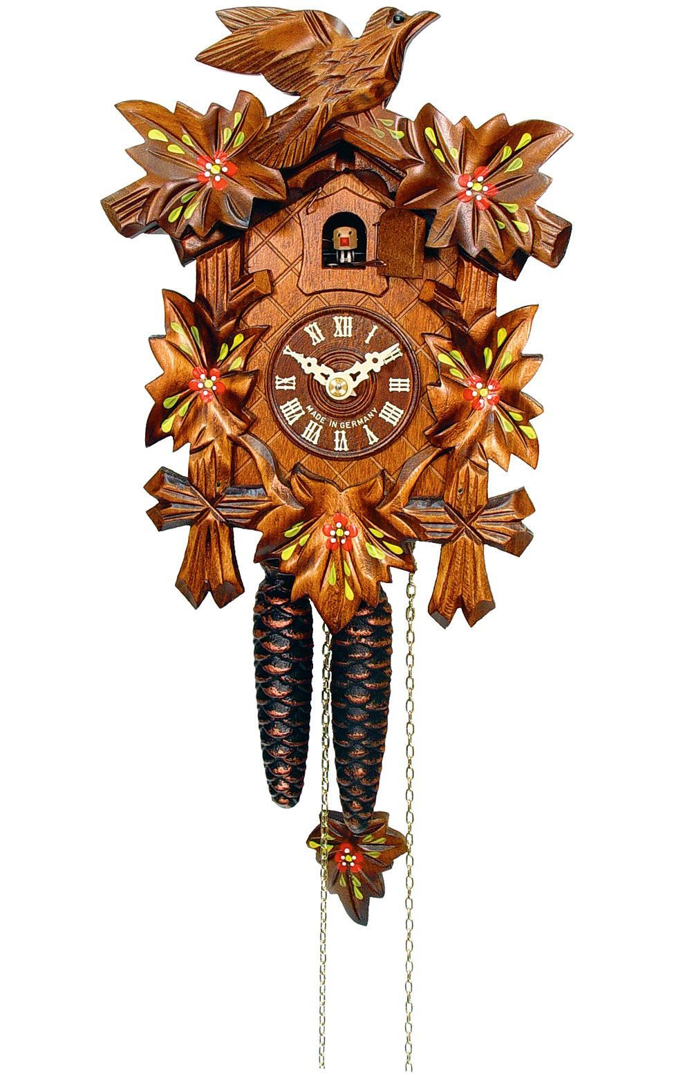 Engstler carved bird and leaves weight driven cuckoo clock 1 day engstler carved bird and leaves weight driven cuckoo clock 1 day 522 6 amipublicfo Images