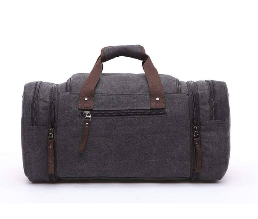 Canvas Duffel bag Overnight Travel Bags Travel Duffel Bag for Men  Canvas Leather gym Bag women 27c6926e31576