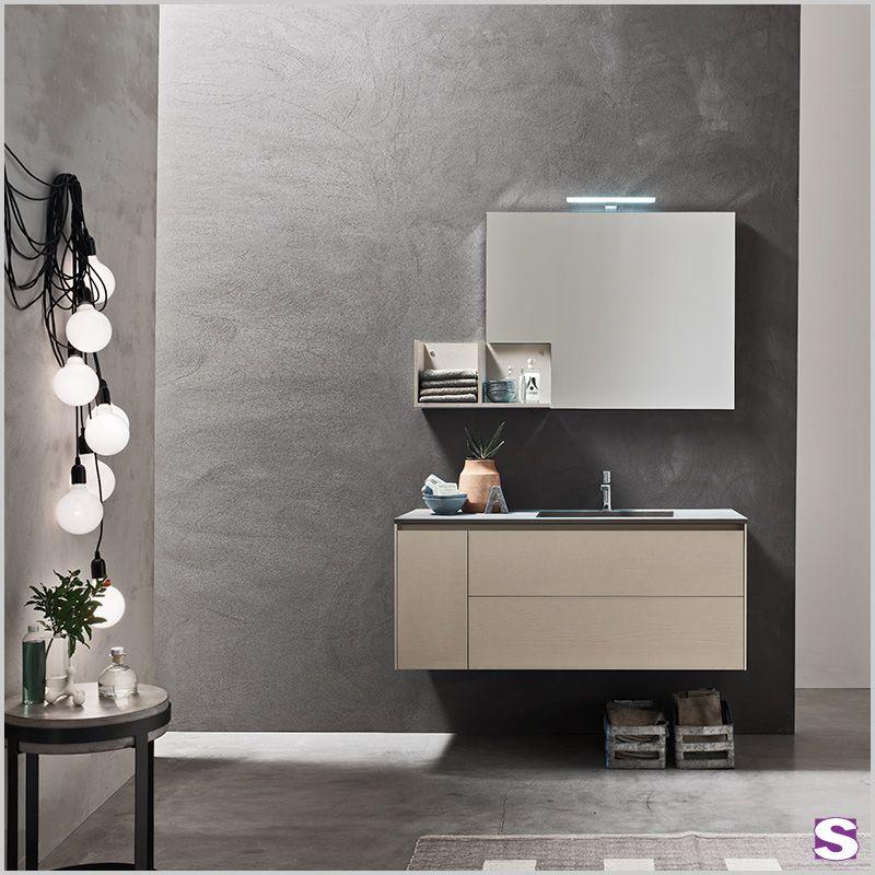 Badmöbel Haiba - Das Komplettset Haiba beinhaltet einen Waschtisch - badezimmer komplettset