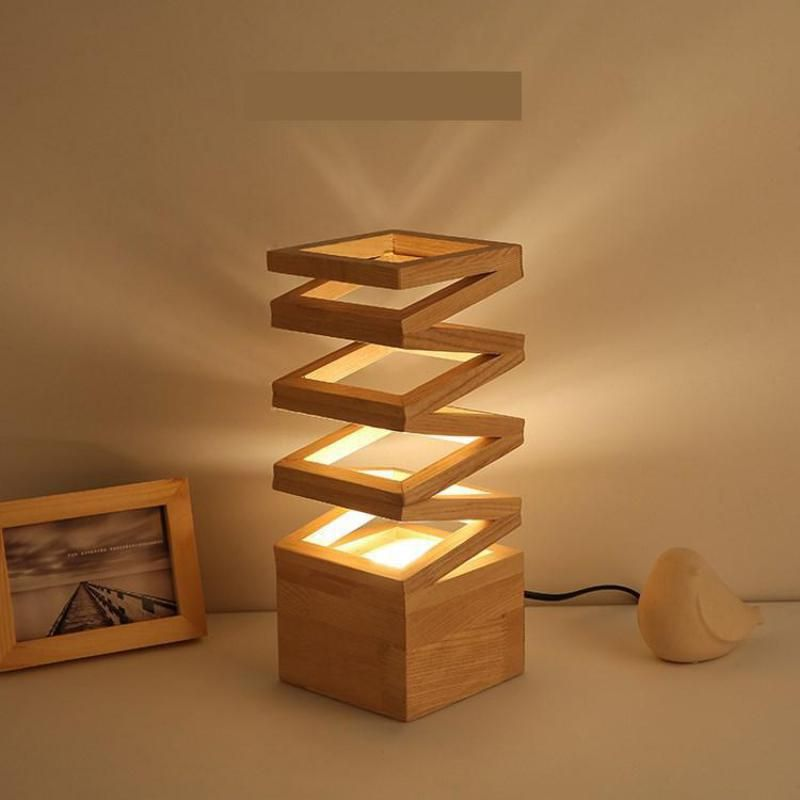 Living Room Wood Table Lamp Led Desk Lights Art Deco Flower Stand Desk Lamp For Study Room Desk Lamp Modern Led Of Table Lamp Wood Wooden Lamp Handcrafted Lamp