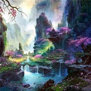 5D DIY Diamond Painting Nature Full Square Drill Diamond Embroidery Landscape Picture