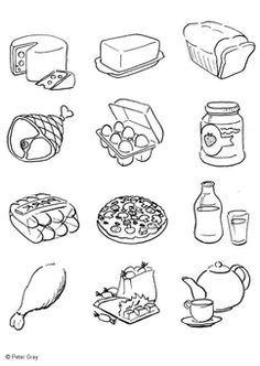 Kleurplaten Over Gezond Eten.Kleurplaat Gezonde En Ongezonde Voeding Google Zoeken Ziek Zijn