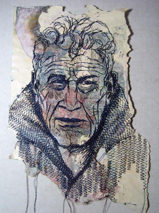 stitched portraits « scrapbook