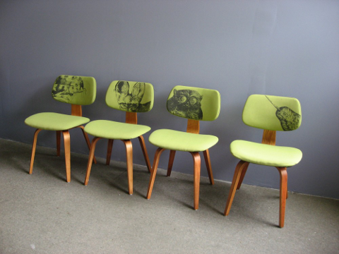 Modern Retro Chairs thonet dining chairs reupholstered | via maiya | mid century