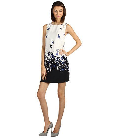 Tibi Ariel Shift Dress Ivory Multi - 6pm.com