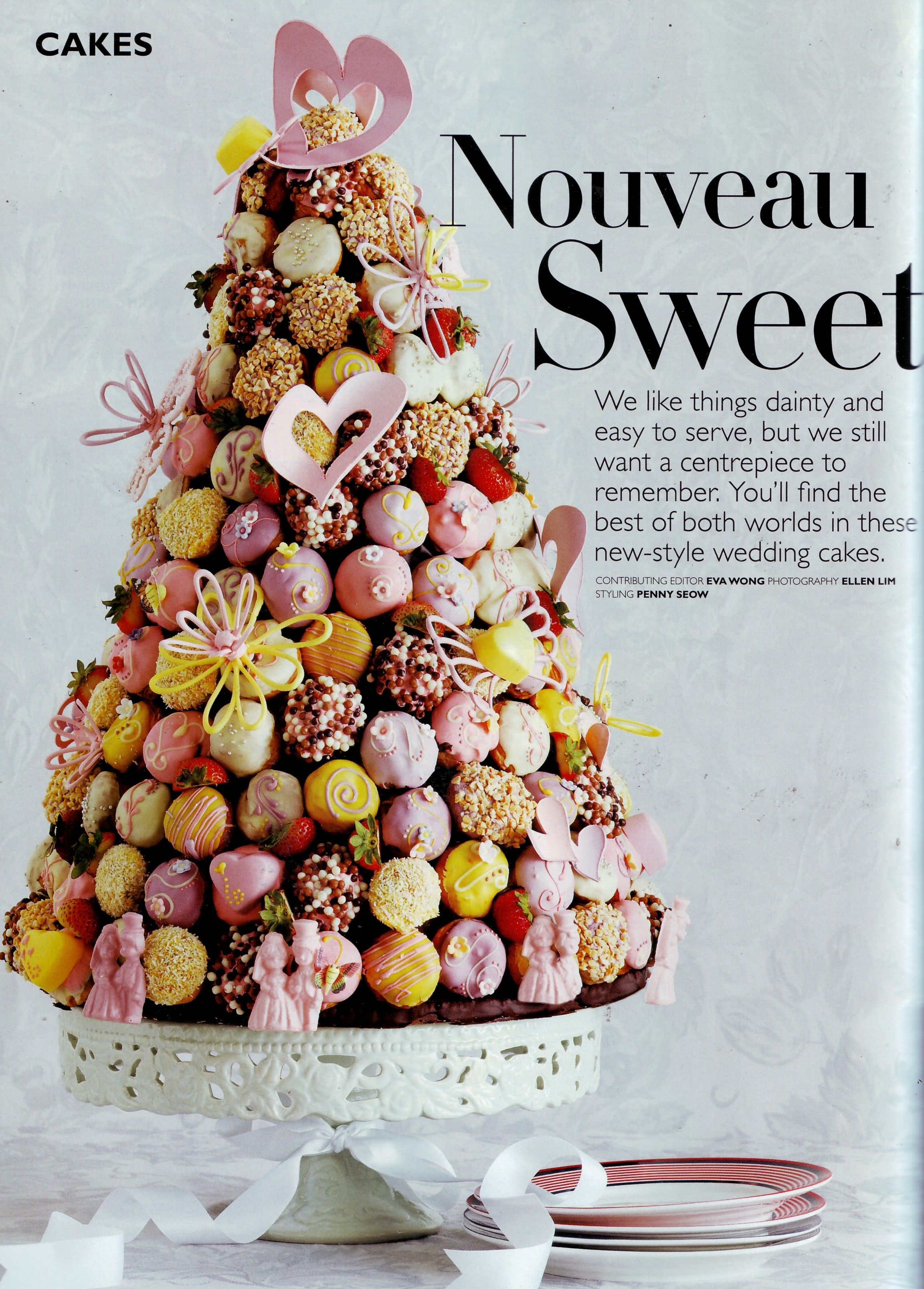 Fruit Decoration Gateau Croquembouche Wedding Cake - Looks Like A Stack Of