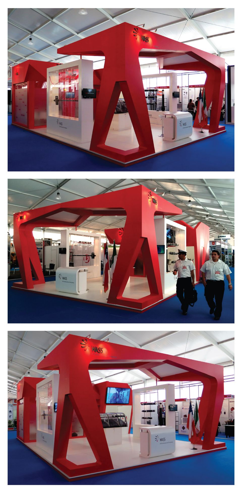 Expo Stands Mexico : Wass custom stand for exponaval chile designed by expoquarzo