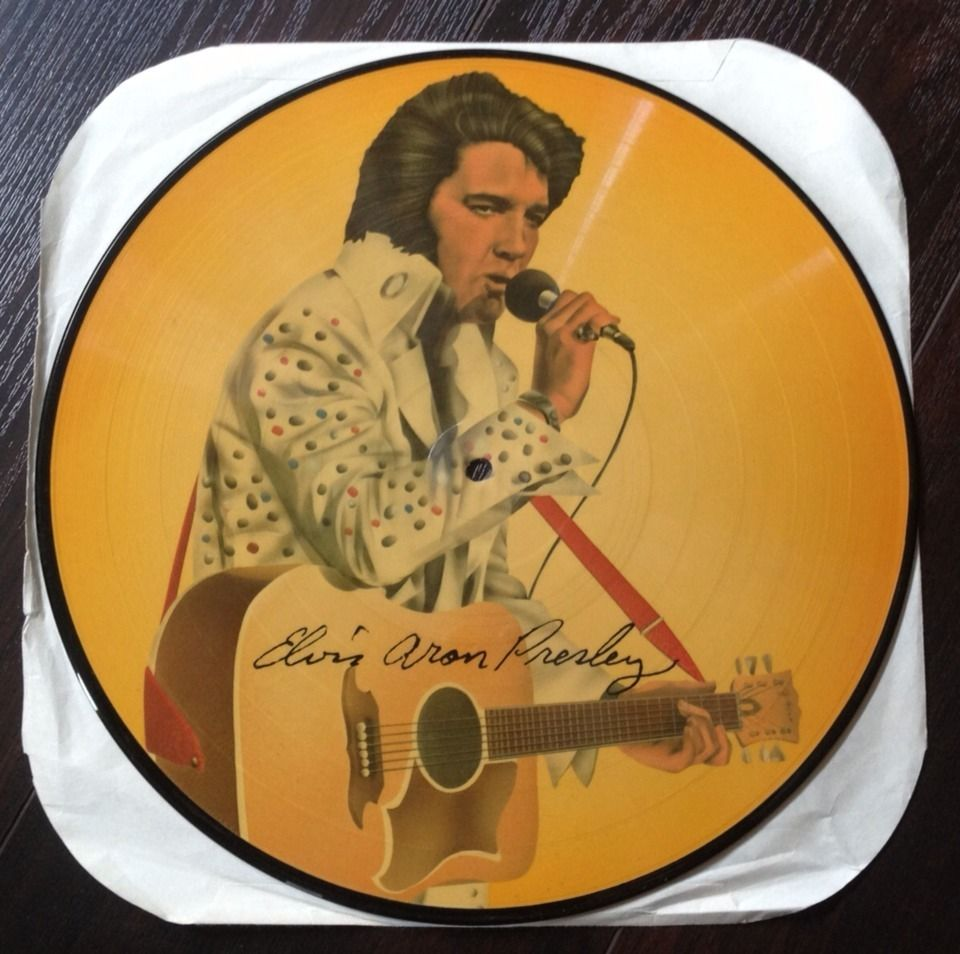 "Elvis Aron Presley 12"" Vinyl Picture Disc LP RARE Album"