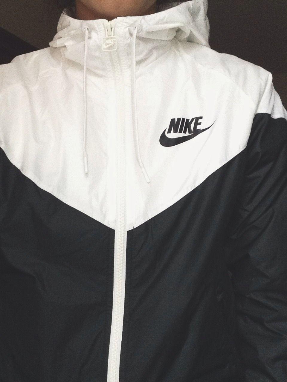 código promocional los Angeles comprar lo mejor la chaqueta blanca y negra | chaquetas | Ropa nike, Camperas ...