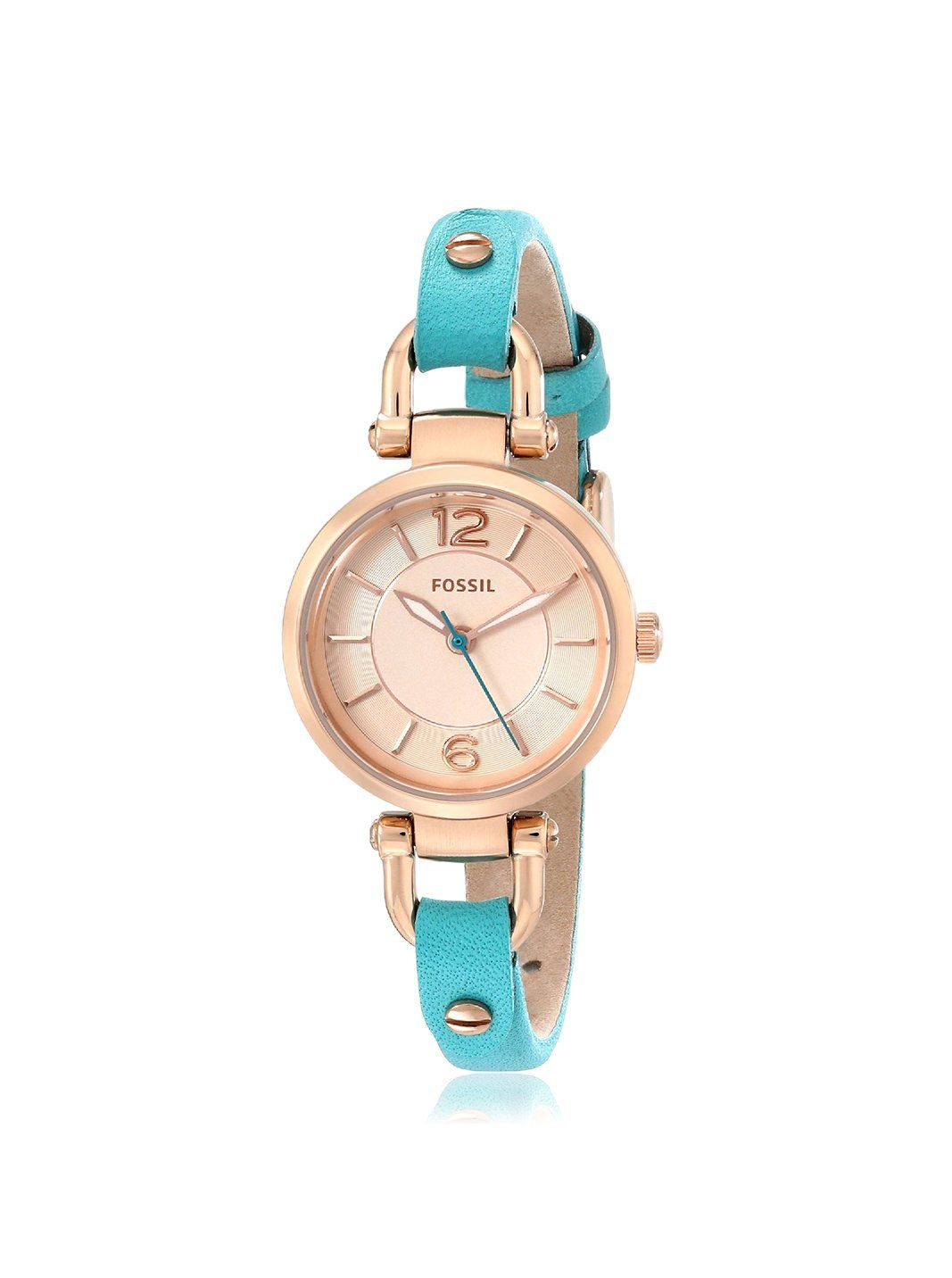 cf6abf7fea25f Fossil Women's ES3744 Georgia Rose Gold-Tone Stainless Steel Watch ...