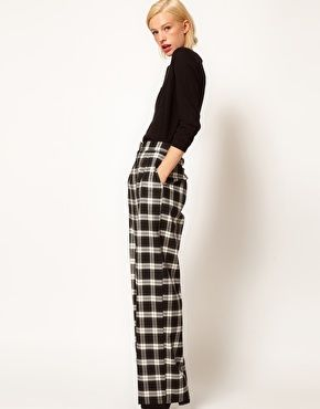 0d337e06d849a Checked wide-legged pants. It'd be so easy to get these wrong, but man, if  you got them right? Fabulous.