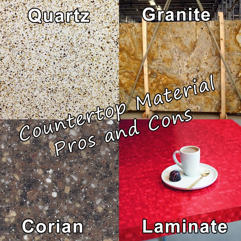 Countertop Selection Guide Quartz Vs Granite Vs Corian Vs