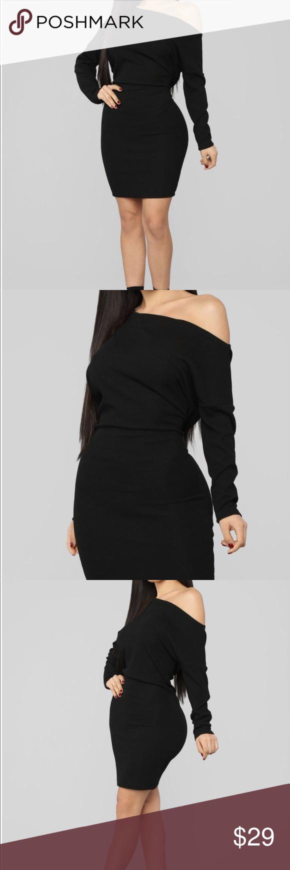 Fashinova Sweater Mini Dress - Black Fashinova Sweater ...