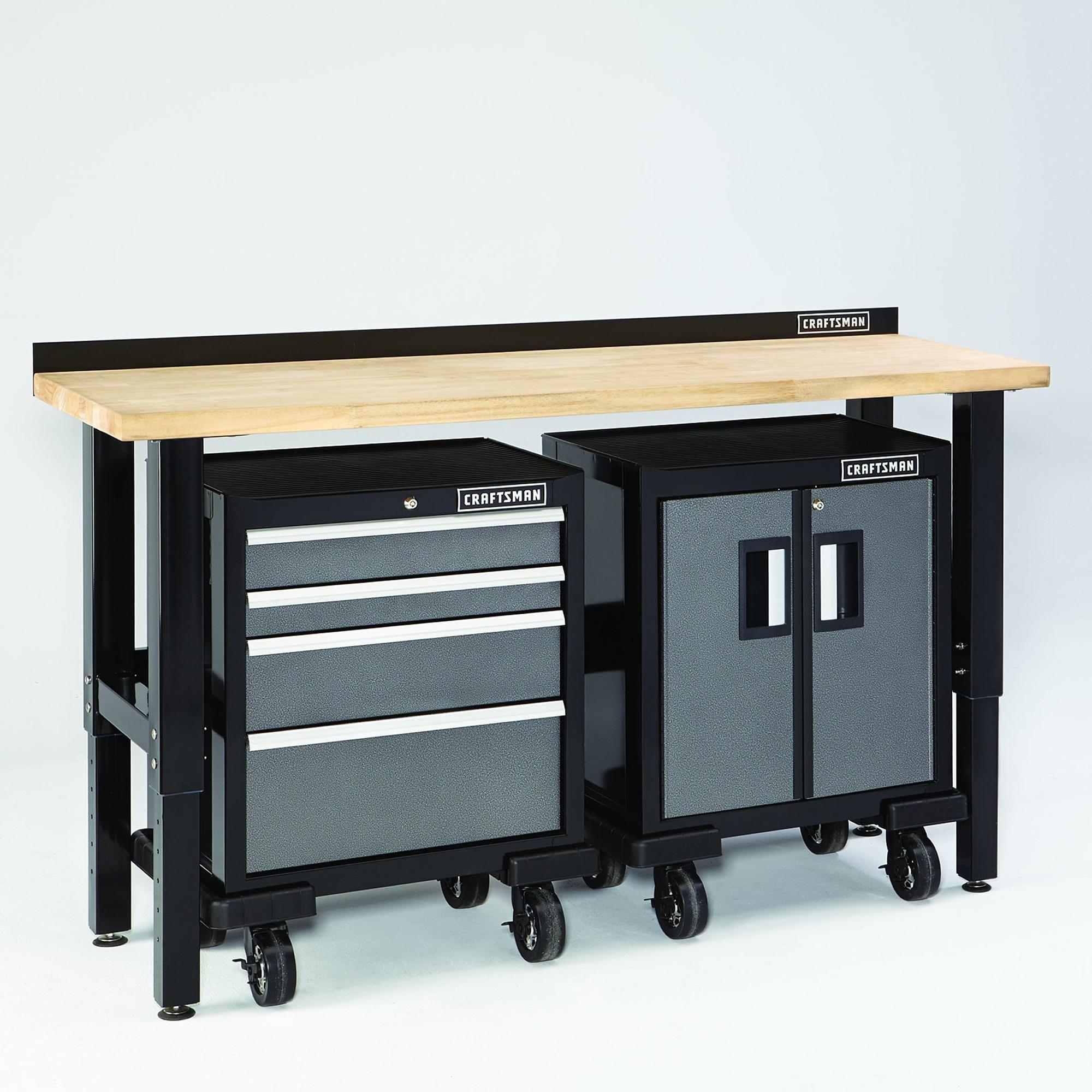 Craftsman 6 Premium Heavy Duty Workbench W Butcher Block Top Heavy Duty Work Bench Workbench Craftsman