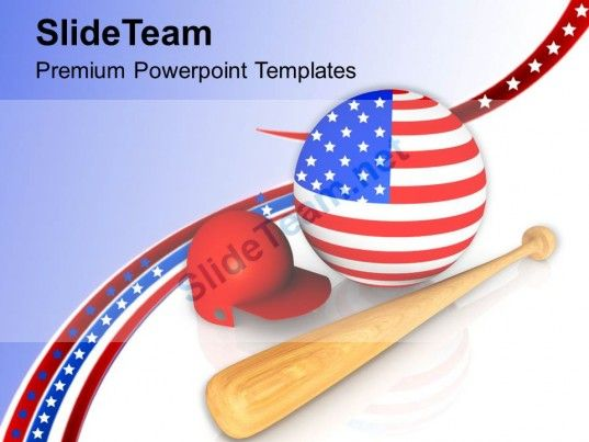 Baseball Is The National Game Of Usa Powerpoint Templates Ppt
