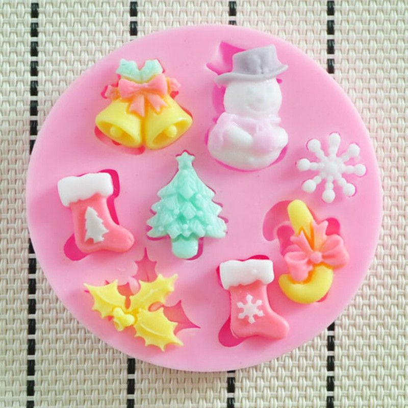 Goedkope Kerst Siliconen Cakevorm Mould Voor Fimo Resin Polymer Clay
