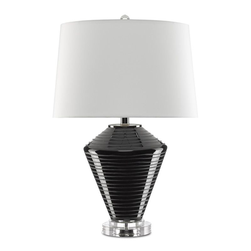 Currey And Company Posy Table Lamp In 2020 Table Lamp Transitional Table Lamps Black Lamps