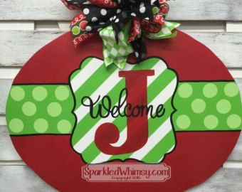 Holiday Door Signs  Merry Christmas Sign Holiday Door Sign