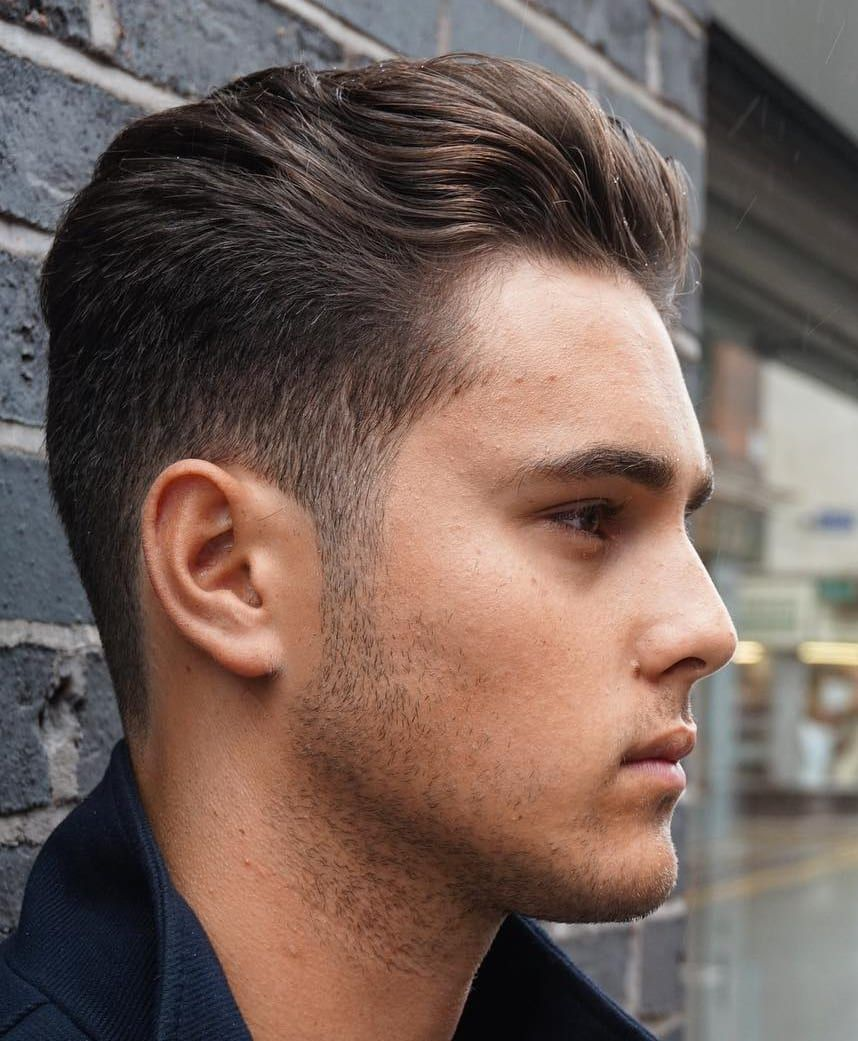 20 Hairstyles For Men With Thin Hair Add More Volume Mens Haircuts Fade Haircuts For Wavy Hair Fade Haircut