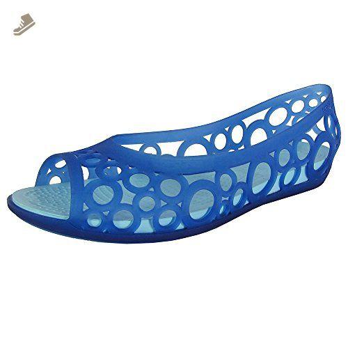 091cebc6ad9 crocs Women s Adrina III Peep Toe Ballet Flat
