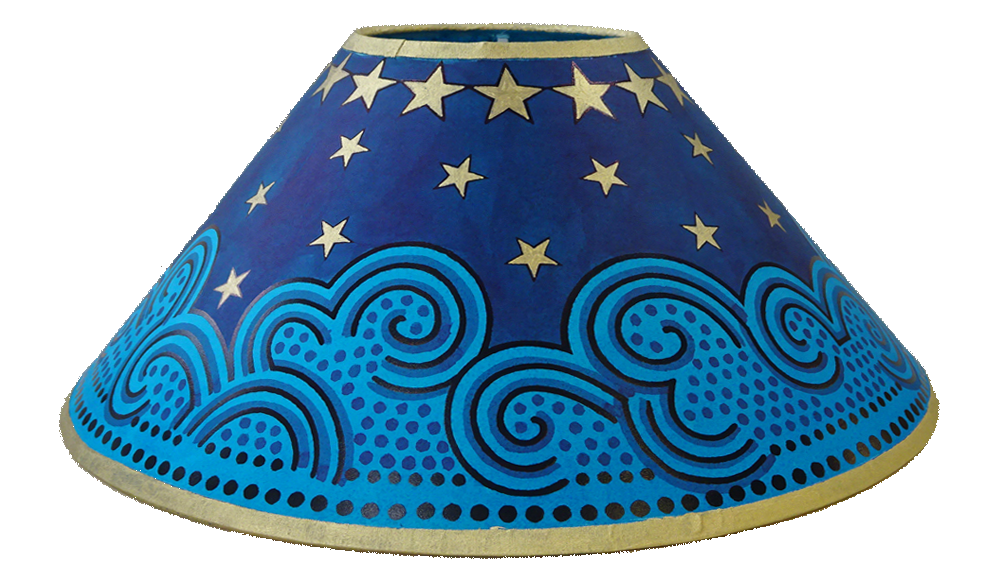 14 Lampshades Clouds Stars Lampshade Blue Gold Star Lampshade Lamp Shade Diy Lamp Shade