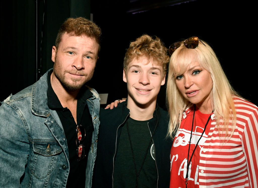 Brian Littrell His Son Baylee Thomas Wylee Littrell And His Wife Brian Littrell Backstreet Boys Academy Of Country Music
