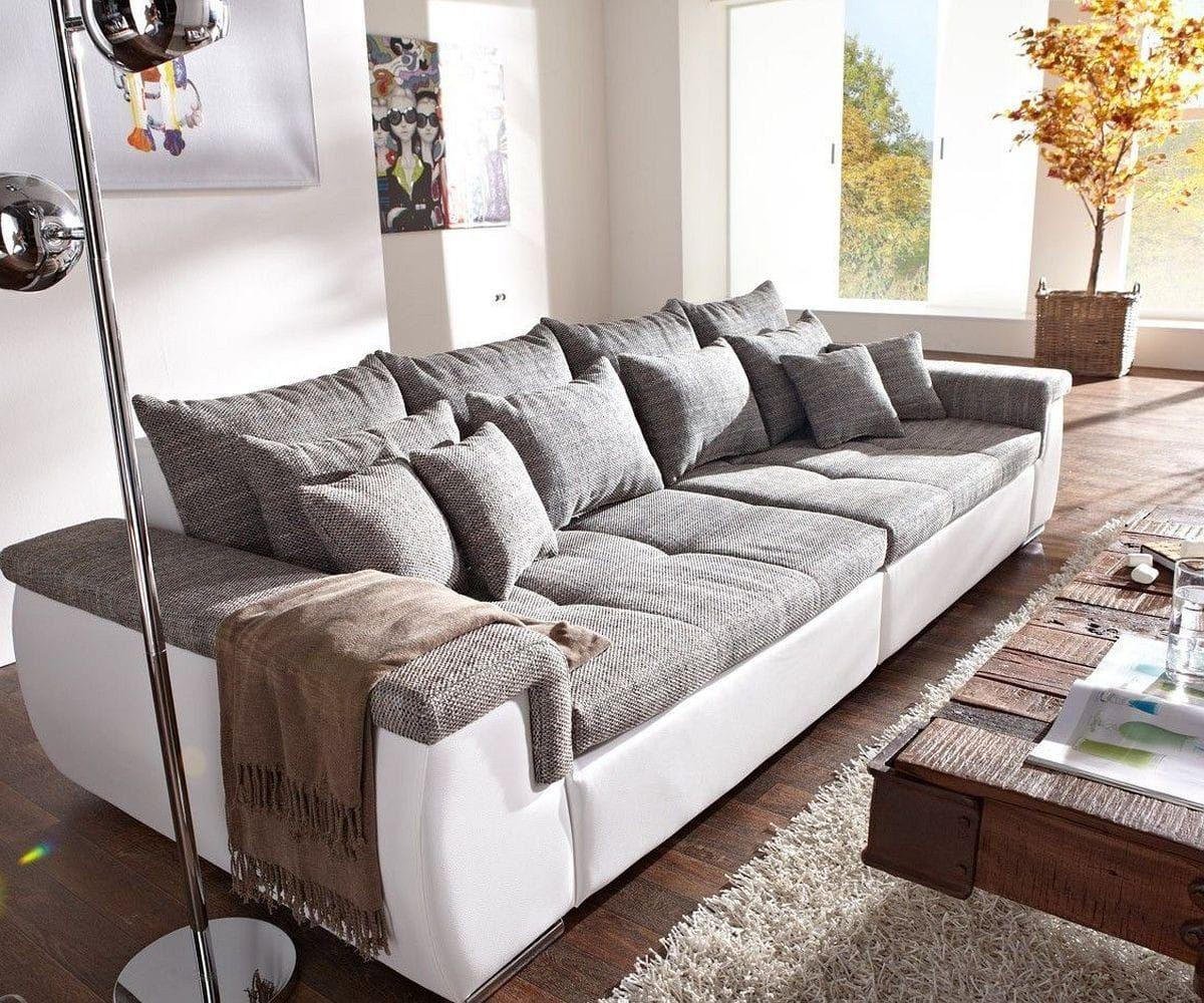 Cm Hellgrau KissenDekoration Weiss Navin Couch Mit Sofa 275x116 N80kXnwOP
