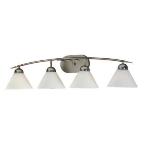 Images Photos Quoizel DIES Empire Silver Demitri Light Wide Reversible Bathroom Vanity Light with Opal