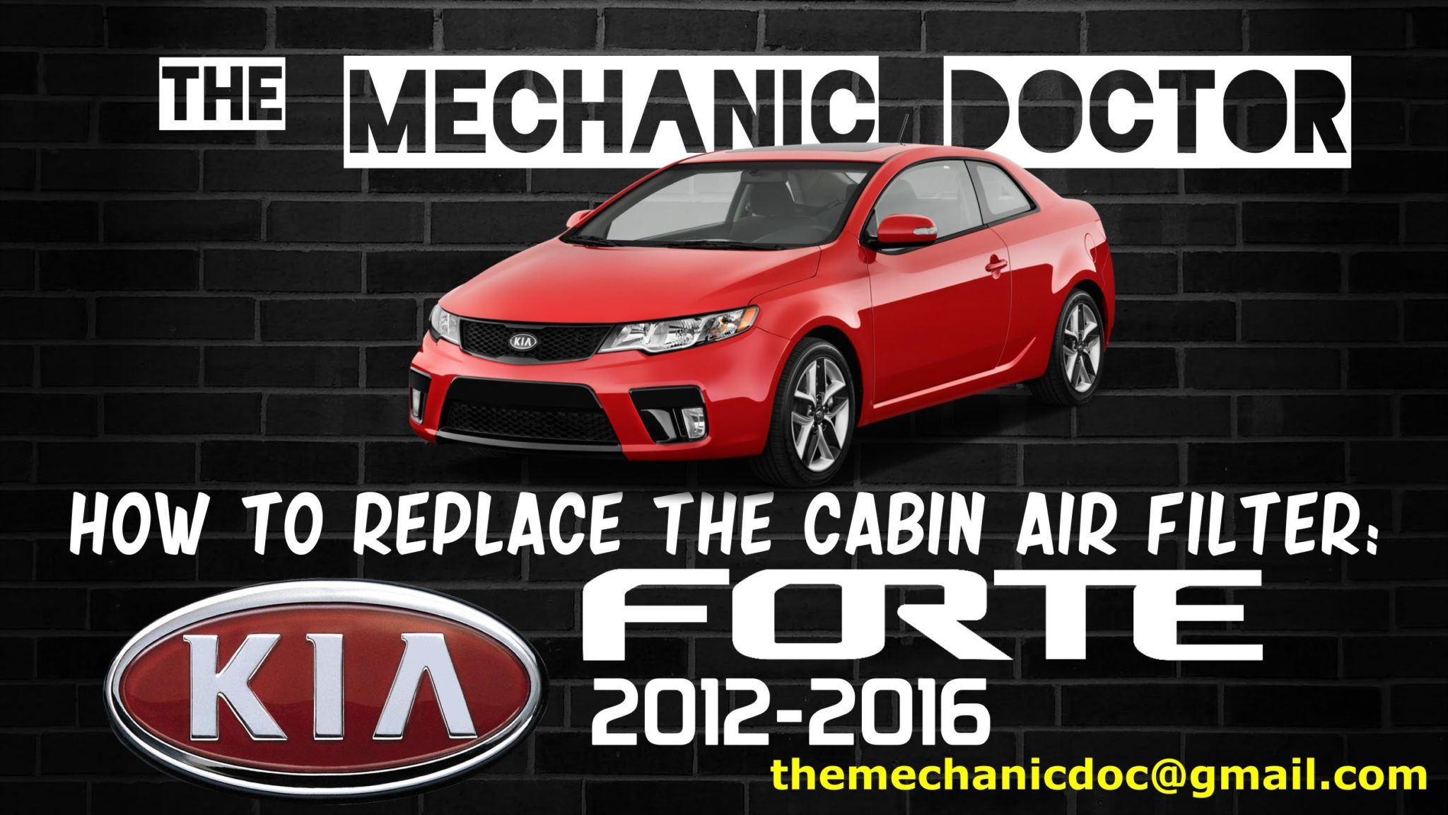 How to replace the cabin air filter Kia Forte 2012, 2013
