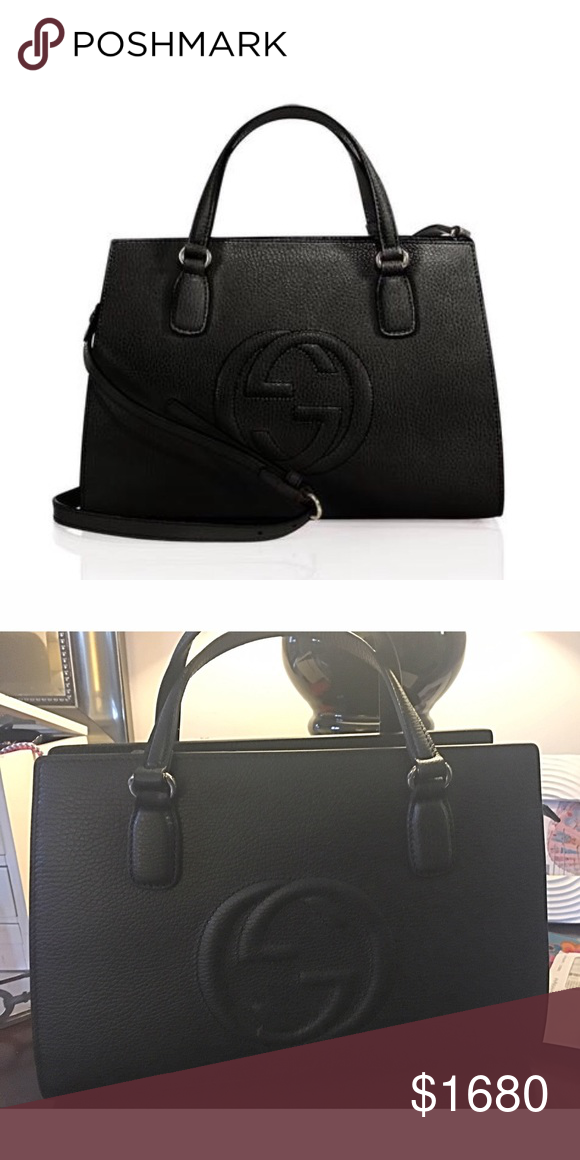 a0bf5dbdf2c Gucci Soho Medium Leather Top Handle Satchel Medium leather Too Handle  Satchel Gucci Bags Satchels
