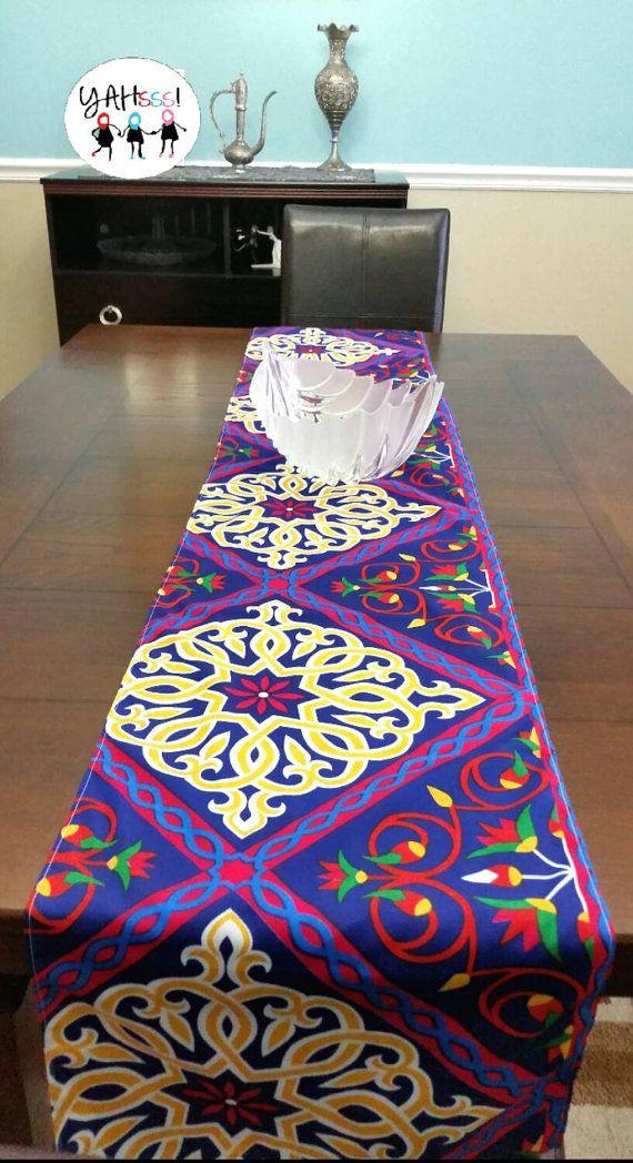 Ramadan Eid Table Runner Purple Table Runners Ramadan Crafts Ramadan Decorations
