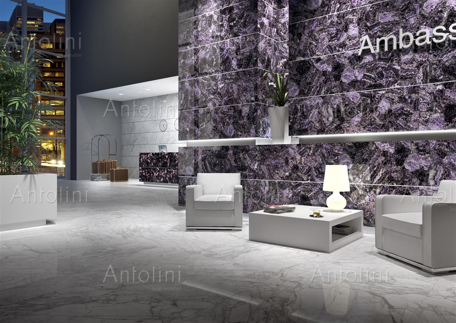 #finishes for Interior Design - Inspiration from Coverings 2016 : Amethyst  - Precioustone - Antolini