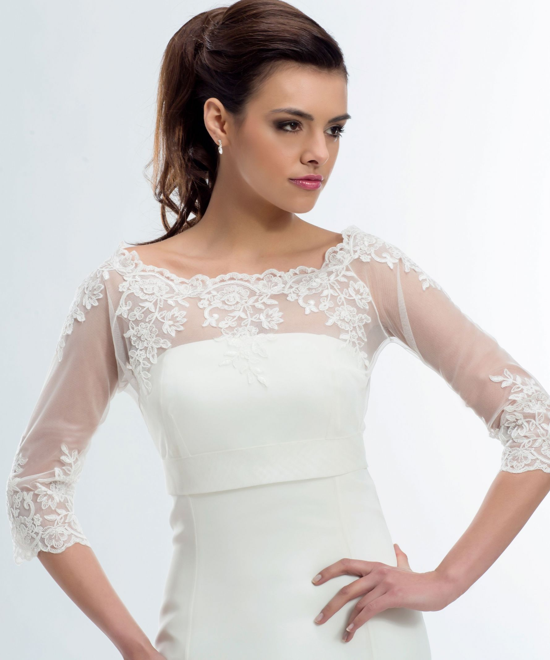 emily lace wedding bolero lace bridal jacket