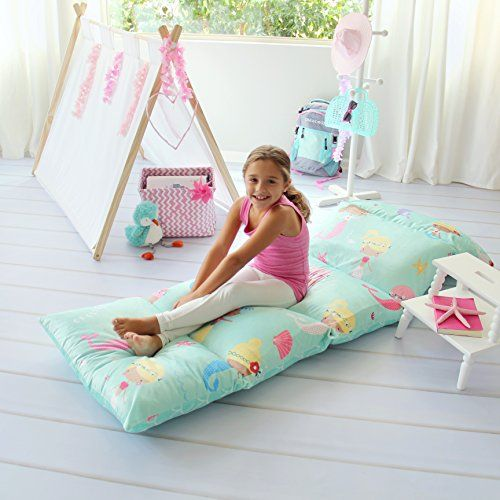 Butterfly Craze Kid/'s Floor Pillow Bed Cover Use as Nap Mat King, Fairy